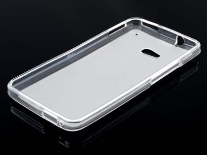 HTC One M7 Frosted TPU Case - Frosted Clear