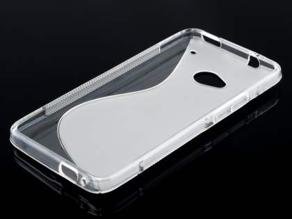 HTC One M7 Wave Case - Frosted Clear/Clear