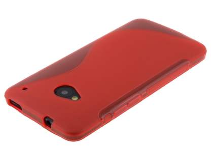 HTC One M7 Wave Case - Frosted Red/Red