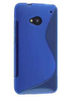Wave Case for HTC One M7 - Frosted Blue/Blue Soft Cover