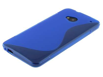 HTC One M7 Wave Case - Frosted Blue/Blue