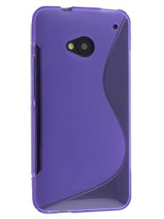 Wave Case for HTC One M7 - Frosted Purple/Purple Soft Cover