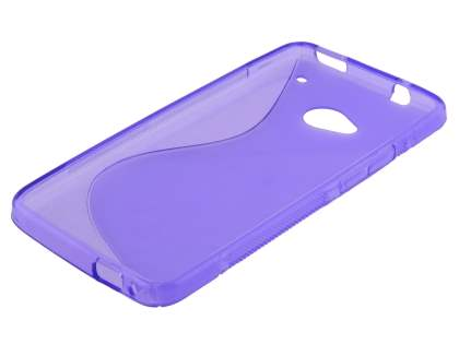 HTC One M7 Wave Case - Frosted Purple/Purple