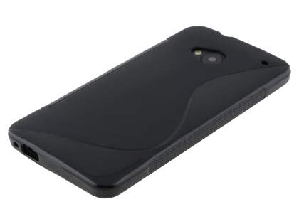 HTC One M7 Wave Case - Frosted Black/Black