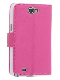 Premium Synthetic Leather Flip Case with Stand for Samsung Galaxy Note II N7100 - Pink Leather Flip Case