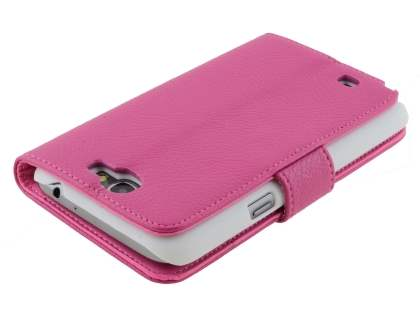 Premium Synthetic Leather Flip Case with Stand for Samsung Galaxy Note II N7100 - Pink