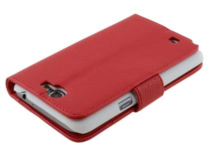 Premium Synthetic Leather Flip Case with Stand for Samsung Galaxy Note II N7100 - Red