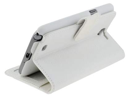 Premium Synthetic Leather Flip Case with Stand for Samsung Galaxy Note II N7100 - White
