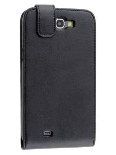Synthetic Leather Flip Case for Samsung Galaxy Note II N7100 - Black Leather Flip Case