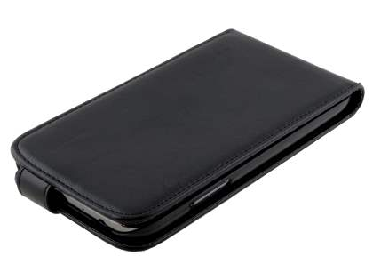 Samsung Galaxy Note II N7100 Synthetic Leather Flip Case - Black