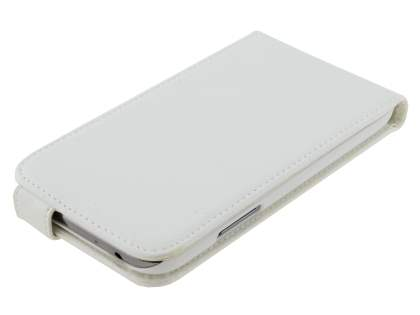Samsung Galaxy Note II N7100 Synthetic Leather Flip Case - White