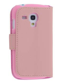 Synthetic Leather Wallet Case with Stand for Samsung I8190 Galaxy S3 mini - Baby Pink Leather Wallet Case