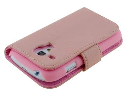Synthetic Leather Wallet Case with Stand for Samsung I8190 Galaxy S3 mini - Baby Pink