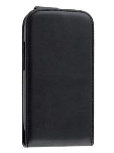 Synthetic Leather Flip Case for Samsung Galaxy S3 Mini - Black