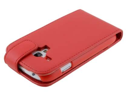 Samsung Galaxy S3 Mini Synthetic Leather Flip Case - Red