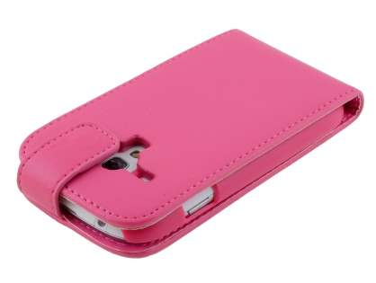 Samsung Galaxy S3 Mini Synthetic Leather Flip Case - Pink