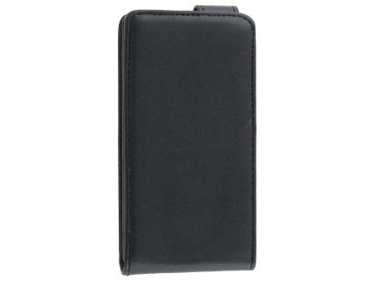 Nokia Lumia 520 Synthetic Leather Flip Case - Classic Black