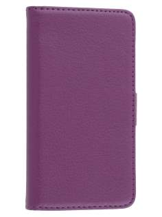 Nokia Lumia 520 Synthetic Leather Wallet Case with Stand - Purple