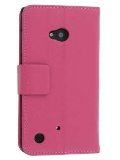 Synthetic Leather Wallet Case with Stand for Nokia Lumia 720 - Pink Leather Wallet Case