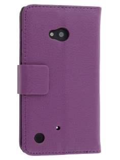 Synthetic Leather Wallet Case with Stand for Nokia Lumia 720 - Purple Leather Wallet Case