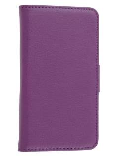 Synthetic Leather Wallet Case with Stand for Nokia Lumia 720 - Purple