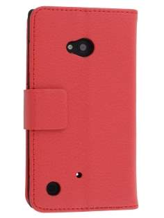 Synthetic Leather Wallet Case with Stand for Nokia Lumia 720 - Red Leather Wallet Case