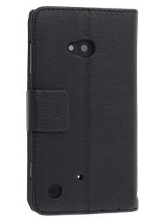 Synthetic Leather Wallet Case with Stand for Nokia Lumia 720 - Classic Black Leather Wallet Case