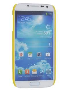 Vollter Samsung Galaxy S4 I9500 Ultra Slim Rubberised Case plus Screen Protector - Canary Yellow