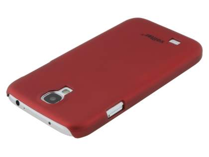 Vollter Ultra Slim Rubberised Case plus Screen Protector for Samsung Galaxy S4 I9500 - Red