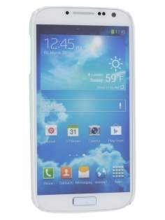 Vollter Samsung Galaxy S4 I9500 Ultra Slim Rubberised Case plus Screen Protector - Pearl White