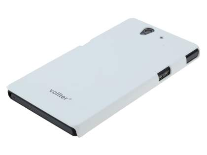Vollter Ultra-Slim Rubberised Case for Sony Xperia Z - Pearl White