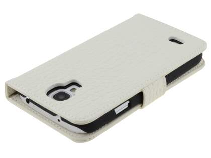 TS-CASE crocodile pattern Genuine leather Wallet Case for Samsung Galaxy S4 I9500 - Pearl White