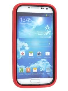 Samsung Galaxy S4 I9500 Defender Case with Stand - Red/Black