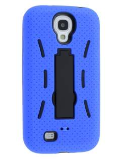 Samsung Galaxy S4 I9500 Defender Case with Stand - Blue/Black