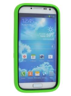 Samsung Galaxy S4 I9500 Defender Case with Stand - Lime Green/Black