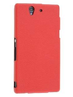 Synthetic Leather Flip Case for Sony Xperia Z - Red Leather Flip Case