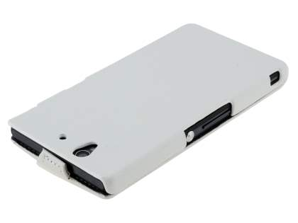 Synthetic Leather Flip Case for Sony Xperia Z - Pearl White
