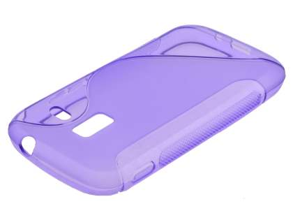Samsung Galaxy Ace 2 I8160 Wave Case - Frosted Purple/Purple