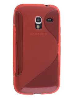 Wave Case for Samsung Galaxy Ace 2 I8160 - Frosted Red/Red Soft Cover