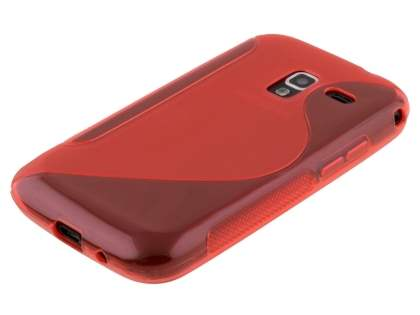 Samsung Galaxy Ace 2 I8160 Wave Case - Frosted Red/Red