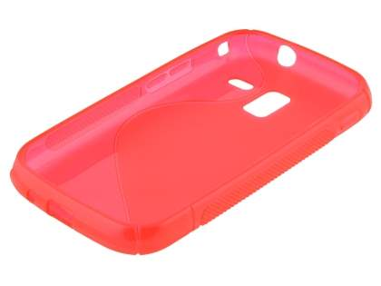 Wave Case for Samsung Galaxy Ace 2 I8160 - Frosted Red/Red