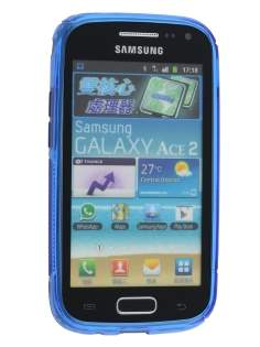 Wave Case for Samsung Galaxy Ace 2 I8160 - Frosted Blue/Blue