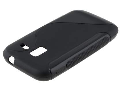 Samsung Galaxy Ace 2 I8160 Wave Case - Frosted Black/Black