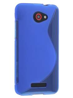 HTC Butterfly Wave Case - Frosted Blue/Blue