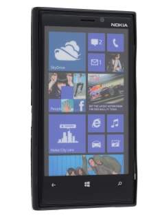 Frosted TPU Case for Nokia Lumia 920 - Classic Black