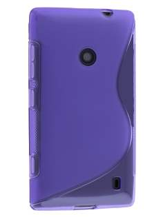 Wave Case for Nokia Lumia 520 - Frosted Purple/Purple Soft Cover