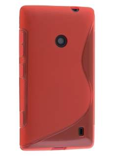 Wave Case for Nokia Lumia 520 - Frosted Red/Red Soft Cover
