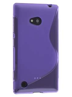 Wave Case for Nokia Lumia 720 - Frosted Purple/Purple Soft Cover