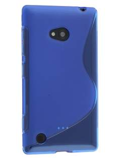 Nokia Lumia 720 Wave Case - Frosted Blue/Blue