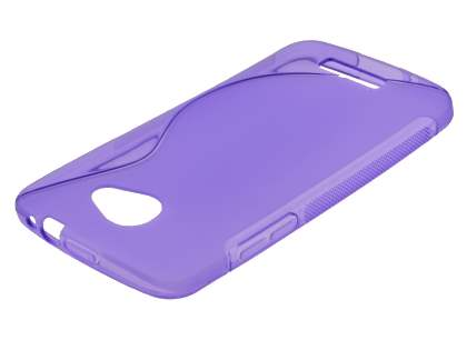HTC Butterfly Wave Case - Frosted Purple/Purple